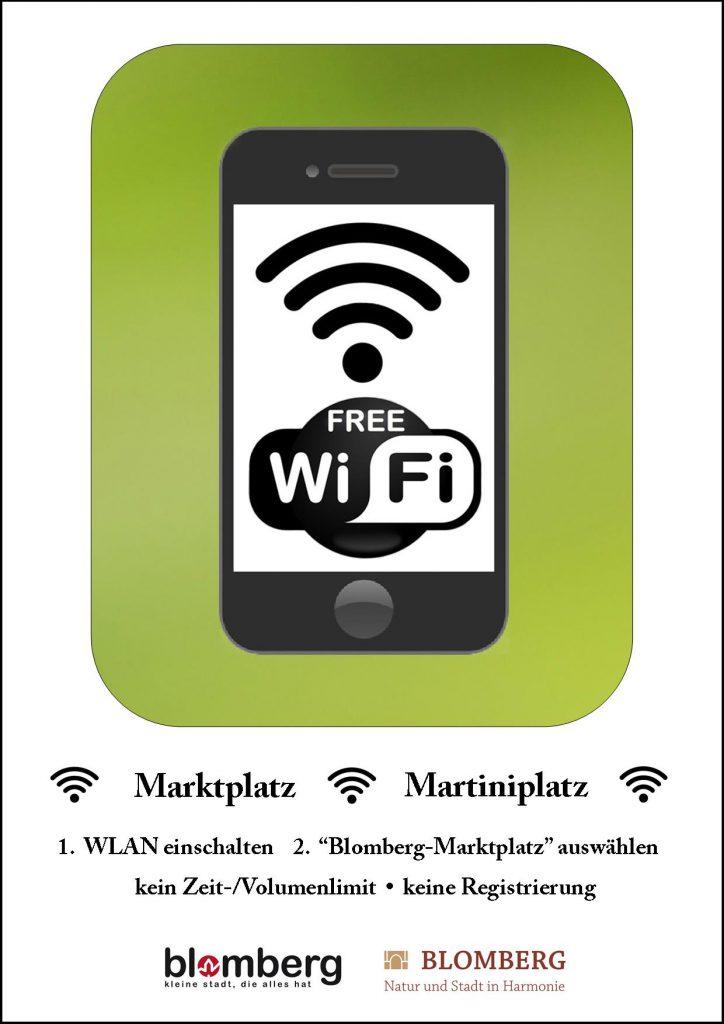 plakat-free-wifi-blomberg-rahmen